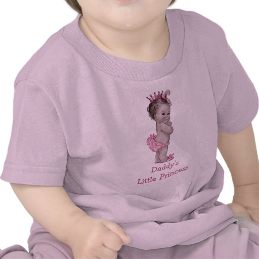 Daddy's Little Princess Vintage Baby Tee Shirts