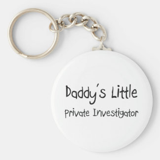 Daddy's Little Private Investigator Keychain