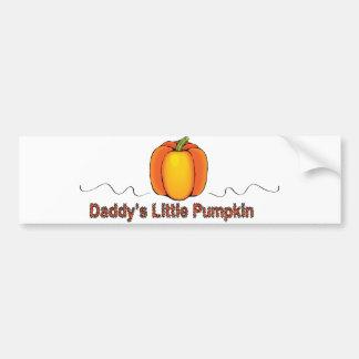 daddy's little pumpkin bumper sticker car bumper sticker
