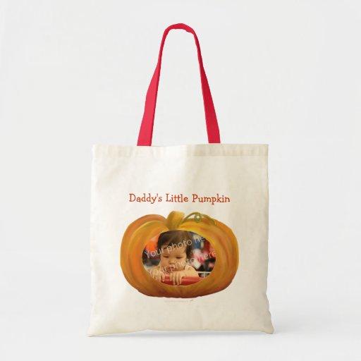 Daddy's Little Pumpkin Custom Photo Bag Template