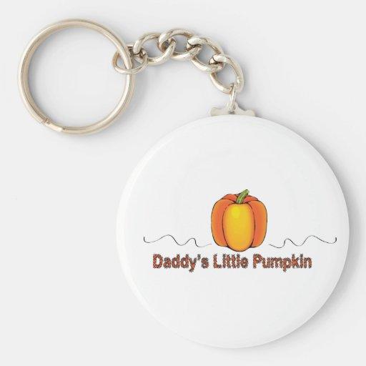 daddy's little pumpkin keychain
