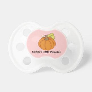 Daddy's Little Pumpkin Pink Pacifier