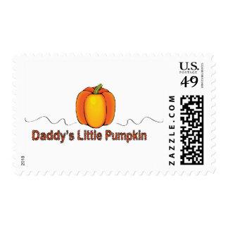 daddy's little pumpkin postage stamp