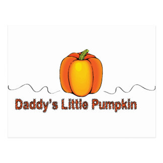 daddy's little pumpkin postcard