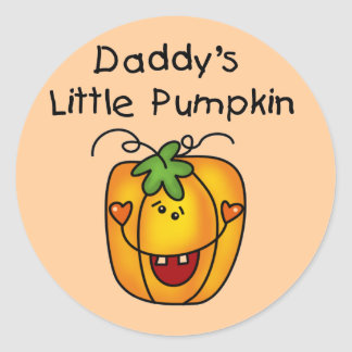Daddy's Little Pumpkin T-shirts and Gifts Classic Round Sticker