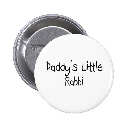 Daddy's Little Rabbi Pinback Button