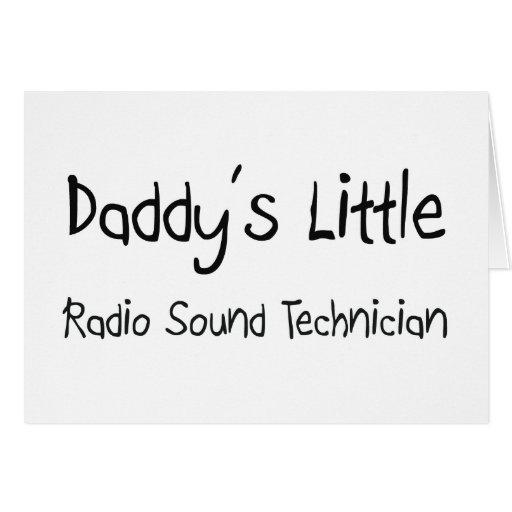 Daddy's Little Radio Sound Technician Greeting Card