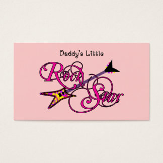 Daddy's Little Rock Star Business Card