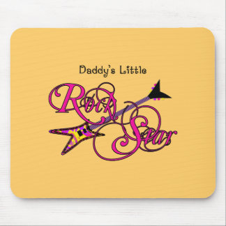 Daddy's Little Rock Star Mouse Pad