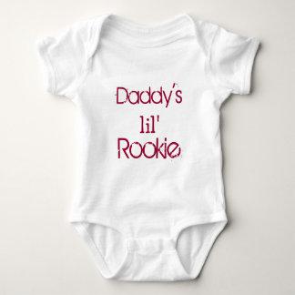 Daddy's Little Rookie Baby Bodysuit