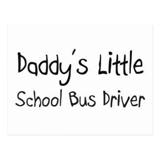 Daddy's Little School Bus Driver Postcard