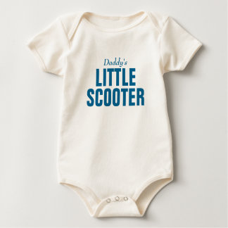 Daddy's little scooter baby bodysuit