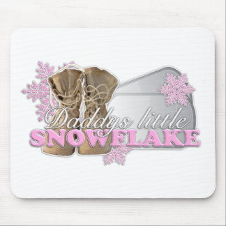 Daddys little Snowflake(pink) Mouse Pad