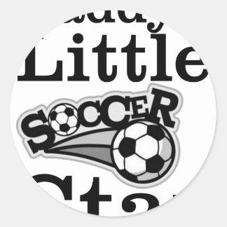 Daddy's Little Soccer Star Classic Round Sticker