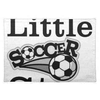 Daddy's Little Soccer Star Cloth Placemat