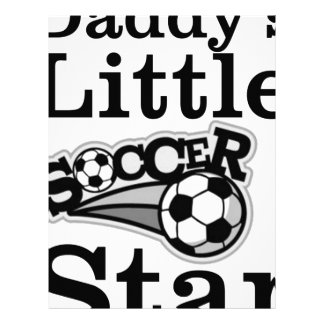 Daddy's Little Soccer Star Letterhead