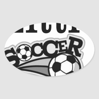 Daddy's Little Soccer Star Oval Sticker