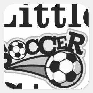 Daddy's Little Soccer Star Square Sticker