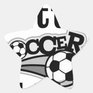 Daddy's Little Soccer Star Star Sticker