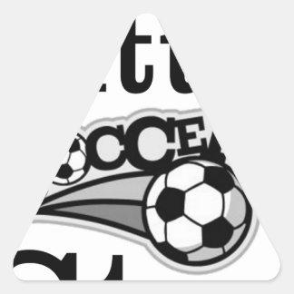 Daddy's Little Soccer Star Triangle Sticker