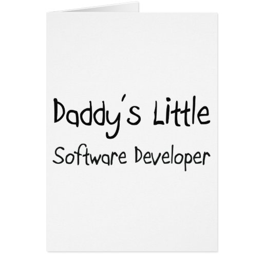 Daddy's Little Software Developer Greeting Card