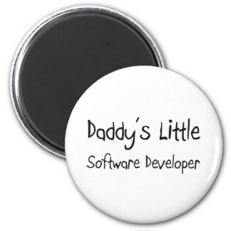 Daddy's Little Software Developer 2 Inch Round Magnet