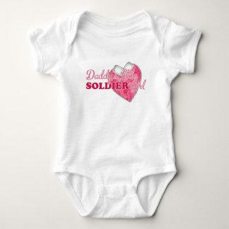 Daddy's Little Soldier Girl Baby Bodysuit