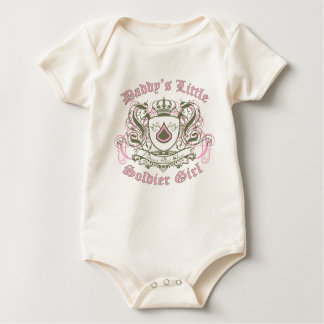 Daddy's Little Soldier Girl - Princess First Class Baby Bodysuit