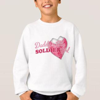 Daddy's Little Soldier Girl Sweatshirt