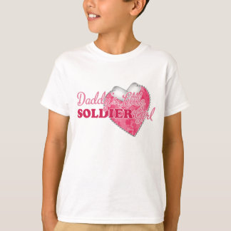 Daddy's Little Soldier Girl T-Shirt