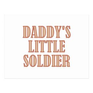 Daddy's Little Soldier (tan) Postcard