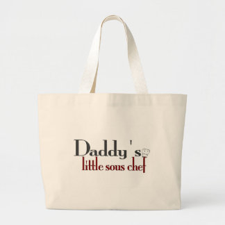 Daddy's little sous chef large tote bag