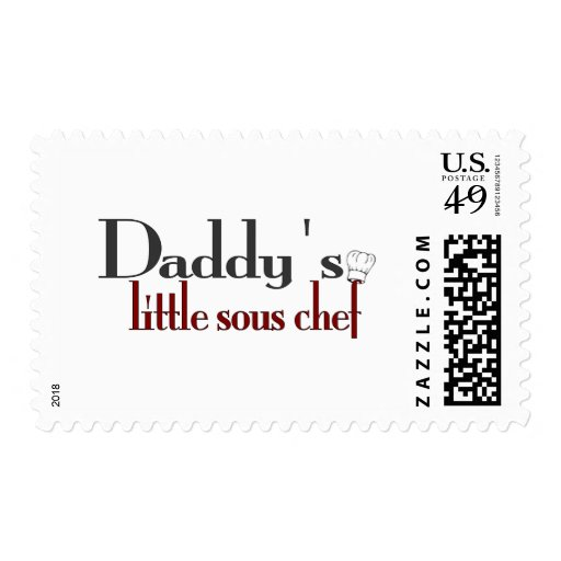 Daddy's little sous chef postage