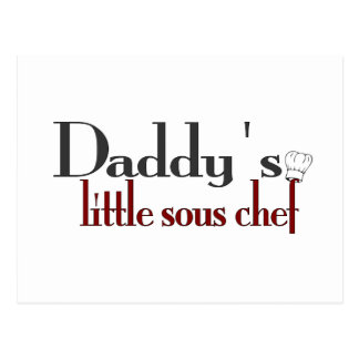 Daddy's little sous chef postcard