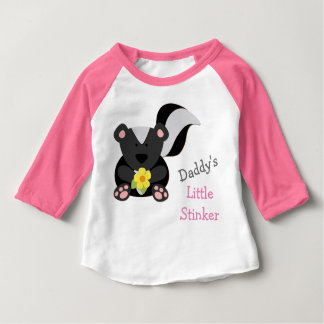 Daddy's Little Stinker Pink Baby T-Shirt
