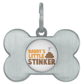 Daddy's little STINKER with cute poo Pet ID Tag