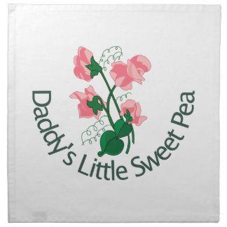 Daddy's Little Sweet Pea Cloth Napkin