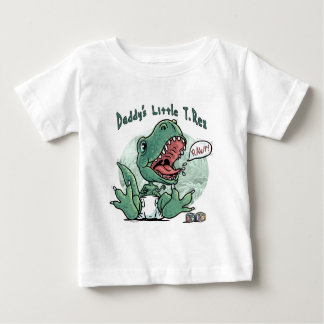 Daddy's Little T. Rex by Mudge Studios Baby T-Shirt