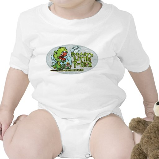 Daddy's Little T Rex Oval Baby Creeper