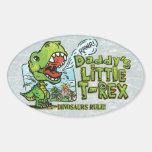 Daddy's Little T Rex Oval Oval Sticker
