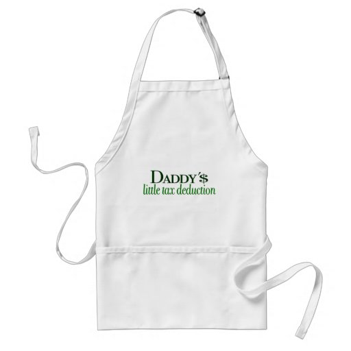 Daddy's little tax deduction aprons