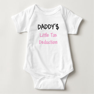Daddys Little Tax Deduction Pink T-shirt