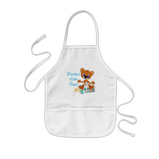 Daddys Little Tiger Boy Baby Tiger Kids' Apron