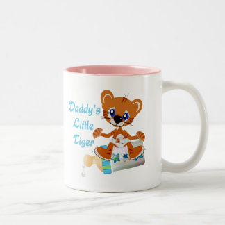 Daddys Little Tiger Boy Baby Tiger Two-Tone Coffee Mug