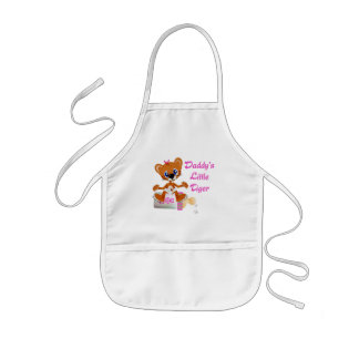 Daddys Little Tiger Girl Baby Tiger Kids' Apron
