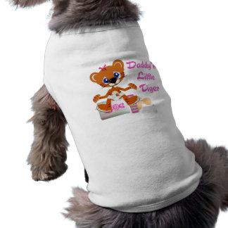 Daddys Little Tiger Girl Baby Tiger Shirt