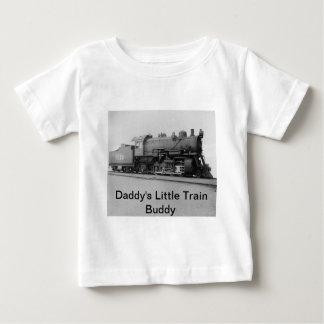 Daddy's Little Train Buddy Vintage Steam Engine Baby T-Shirt