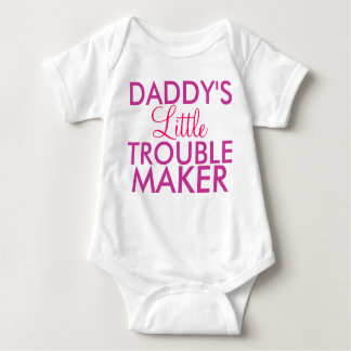 Daddy's Little Trouble Maker Pink Shirt
