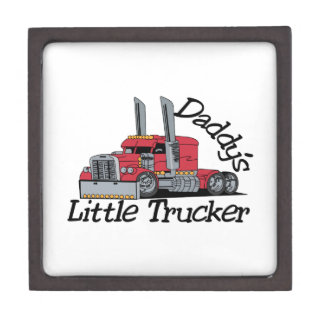 Daddys Little Trucker Keepsake Box