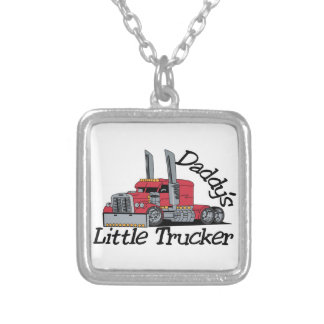 Daddys Little Trucker Silver Plated Necklace